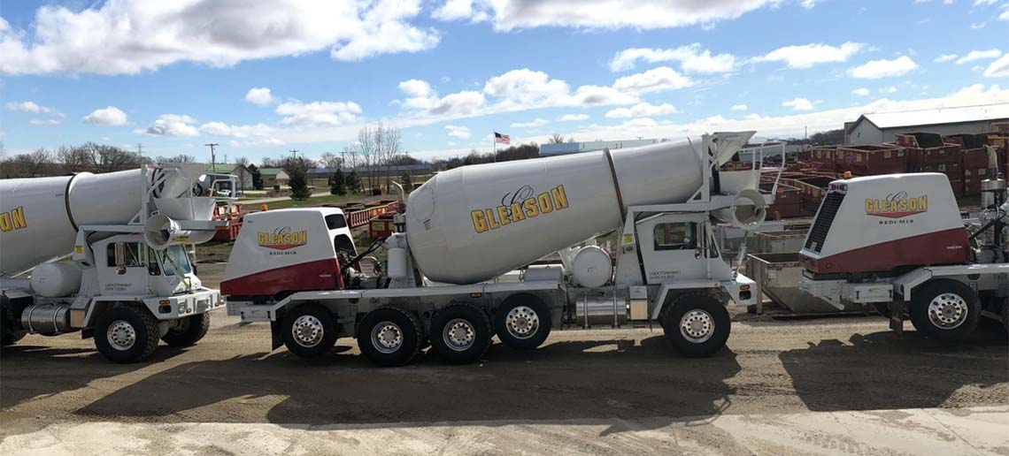 Gleason Redi-Mix Concrete Trucks